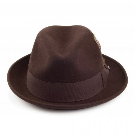 Hatter - Crushable Blues Trilby (brun)