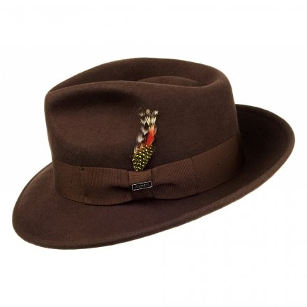 Hatter - Crushable C-Crown Fedora (brun)