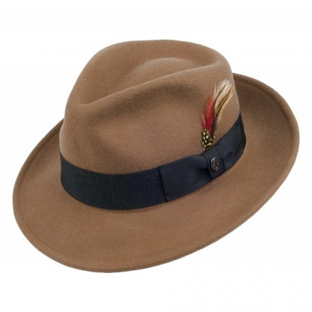 Hatter - Crushable C-Crown Fedora (lysebrun)