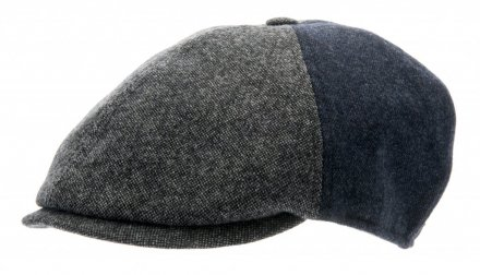 Sixpence / Flat cap - CTH Ericson Colin Patchwork (grå)