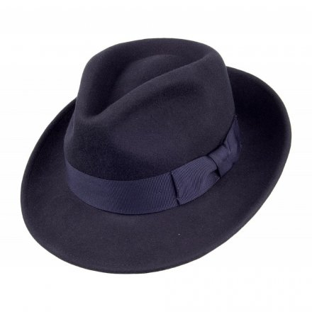 Hatter - Crushable C-Crown Fedora (marineblå)