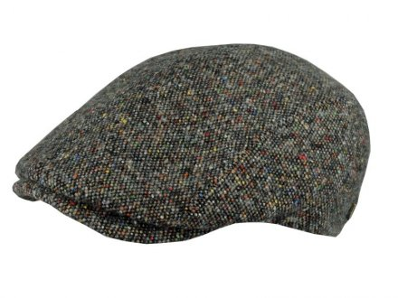Sixpence / Flat cap - MJM Daffy Wool/Silk (grå mix)