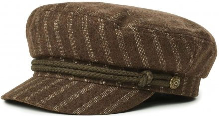 Sixpence / Flat cap - Brixton Fiddler (brown/white)