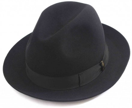 Hatter - Borsalino Marengo Medium Brim Fedora (sort)