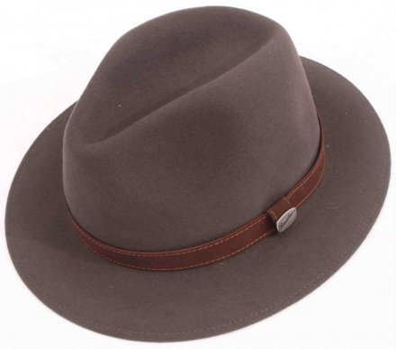 Hatter - Borsalino Alessandria Leather Band Fedora (grå)