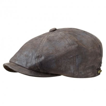 Sixpence / Flat cap - Stetson Hatteras Leather Flat Cap (brun)