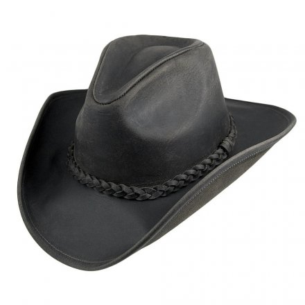 Hatter - Jaxon Hats Buffalo Leather Cowboy (sort)
