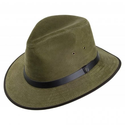 Hatter - Nubuck Leather Safari Fedora (olive)