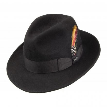 Hatter - Crushable Pinch Crown Fedora (sort)