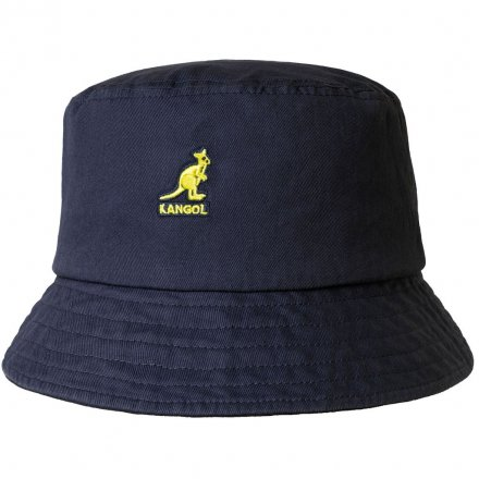 Hatter - Kangol Washed Bucket (marineblå)