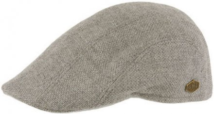 Sixpence / Flat cap - MJM Maddy Eco Merino Wool (lysegrå)