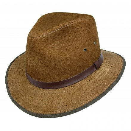 Hatter - Nubuck Leather Safari Fedora (kastanje)