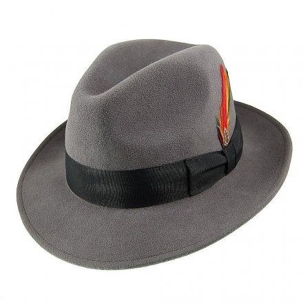Hatter - Crushable Pinch Crown Fedora (grå)