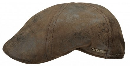 Sixpence / Flat cap - Stetson Texas Leather (brun)