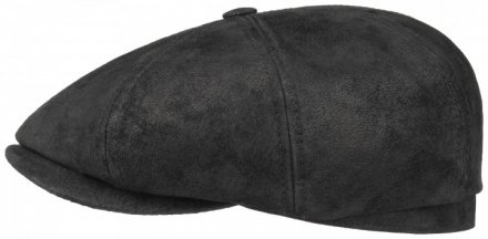 Sixpence / Flat cap - Stetson Hatteras Leather Flat Cap (sort)