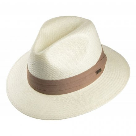 Hatter - Toyo Safari Fedora With Khaki Band (hvit)