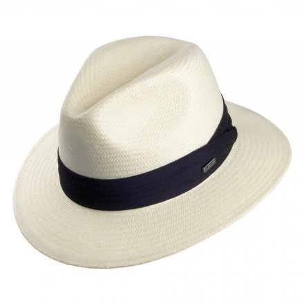 Hatter - Toyo Safari Fedora With Black Band (hvit)