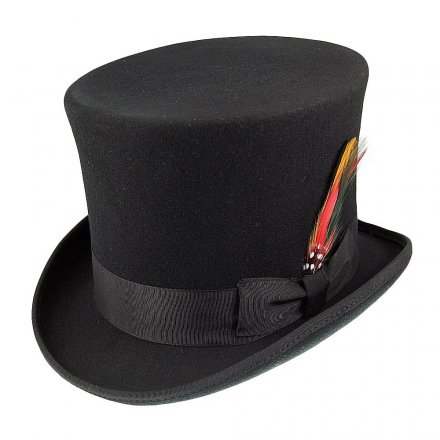 Hatter - Victorian Top Hat (flosshatt) (sort)