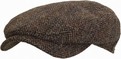 Sixpence / Flat cap - Wigéns Ivy Contemporary Harris Tweed (grå)