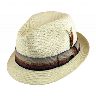 Hatter - Summer Blues Trilby (hvit)