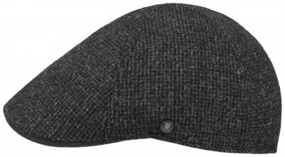 Sixpence / Flat cap - Stetson Texas Wool Rough (antracit)