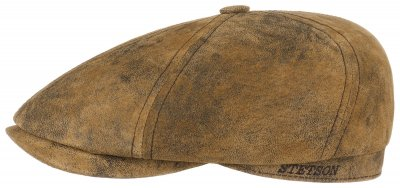 Sixpence / Flat cap - Stetson Brooklin Leather (brun)