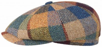 Sixpence / Flat cap - Stetson Hatteras Lambswool Patchwork (multi)