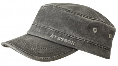 Sixpence / Flat cap - Stetson Winter Army Cap (sort)