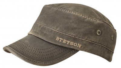 Sixpence / Flat cap - Stetson Winter Army Cap (brun)