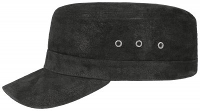 Sixpence / Flat cap - Stetson Army Cap Pigskin (sort)