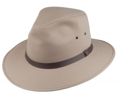 Hatter - Jaxon Cotton Safari Fedora (khaki)