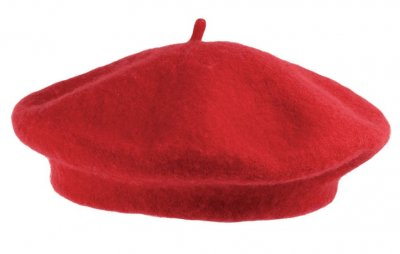 Alpelue - Wool Fashion Beret (rød)