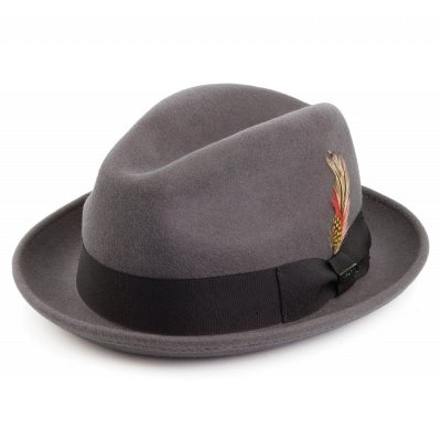 Hatter - Crushable Blues Trilby (grå)