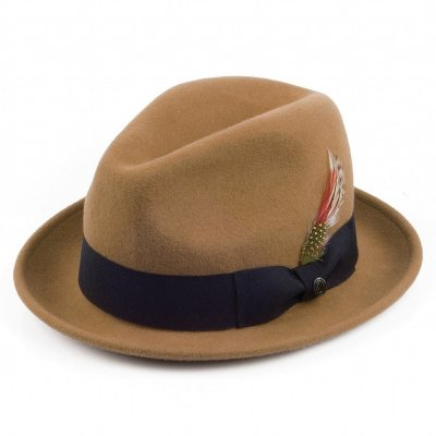 Hatter - Crushable Blues Trilby (lysebrun)