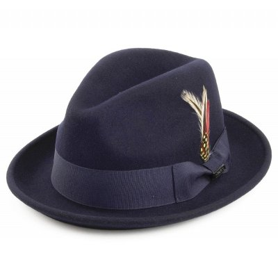 Hatter - Crushable Blues Trilby (marineblå)