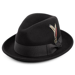 Hatter - Crushable Blues Trilby (sort)