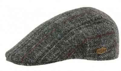 Sixpence / Flat cap - MJM Country Harris Tweed Check (grå)