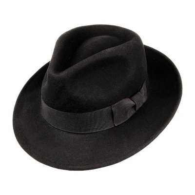 Hatter - Crushable C-Crown Fedora (svart)
