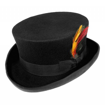 Hatter - Deadman Top Hat (flosshatt) (sort)