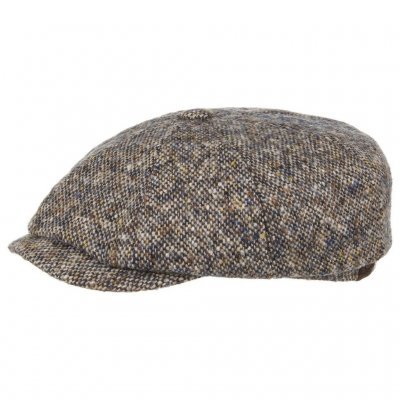 Sixpence / Flat cap - Stetson Hatteras Donegal Tweed (blå mix)