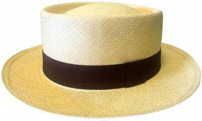 Hatter - Maki Round Crown Panama With Brown Band (natur)