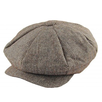 Sixpence - Jaxon Herringbone Big Apple Cap (brun)
