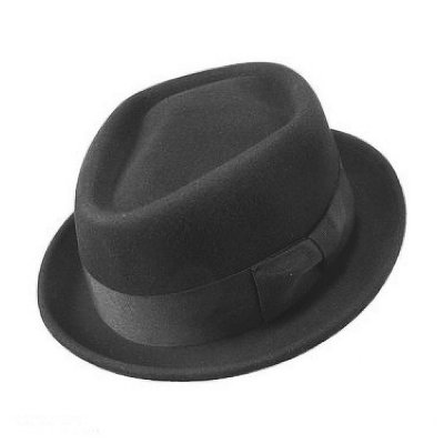 Hatter - Diamond Crown Pork Pie Hat (sort)