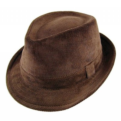 Hatter - Corduroy Trilby (brun)