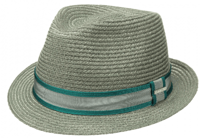 Hatter - Stetson Abaca Trilby (turkoosi)