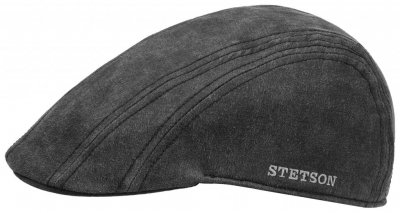 Sixpence / Flat cap - Stetson Madison Old Cap Winter (sort/grå)