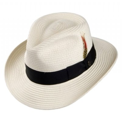 Hatter - Summer C-Crown Fedora (hvit)