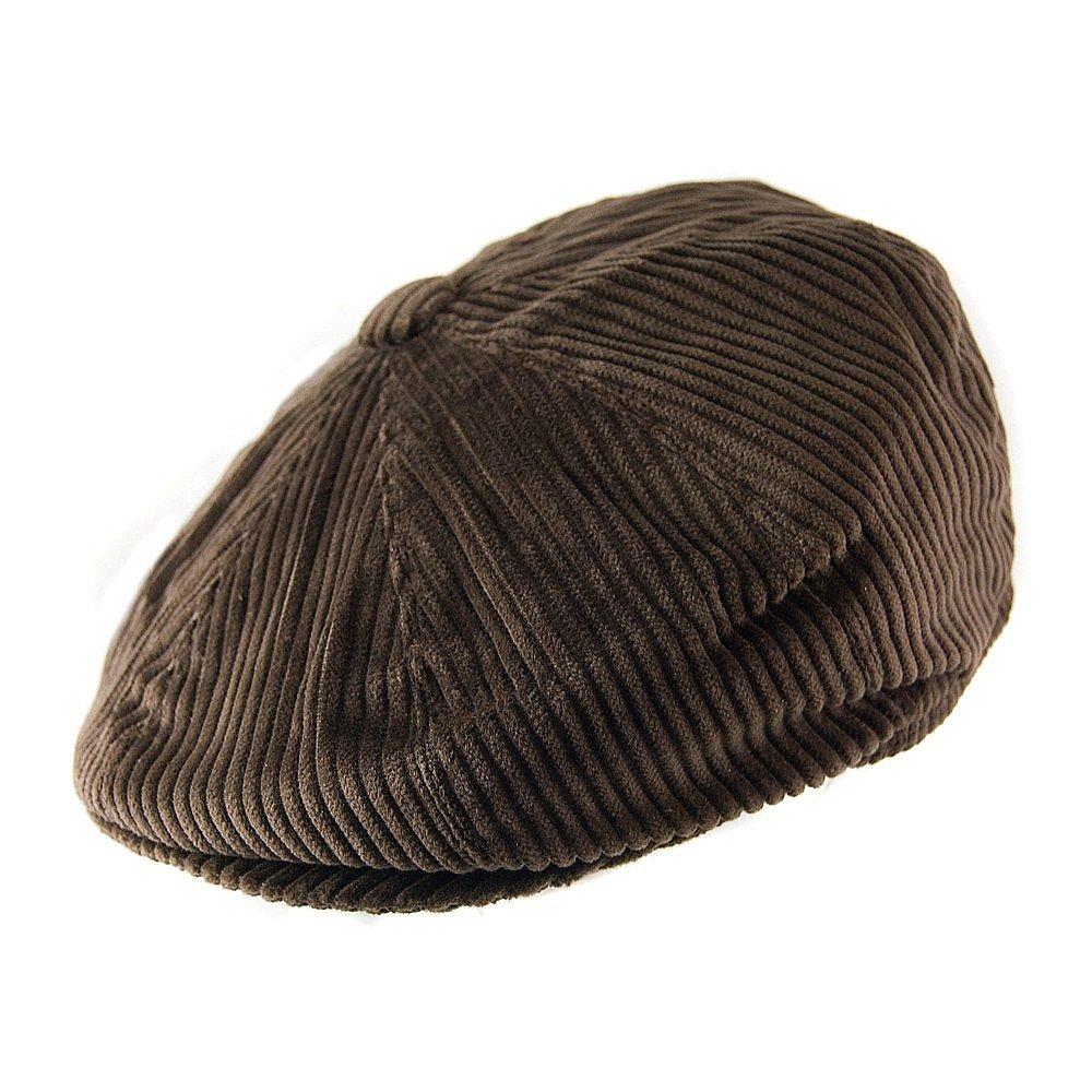 Sixpence / Flat cap - Jaxon Hats Corduroy Newsboy Cap (brun) - Sixpence / Flat caps ...
